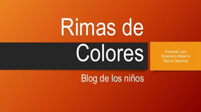 Rimas de colores. Refuerzo online primaria