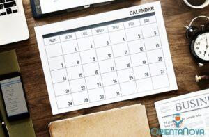 Calendario de estudio para el verano